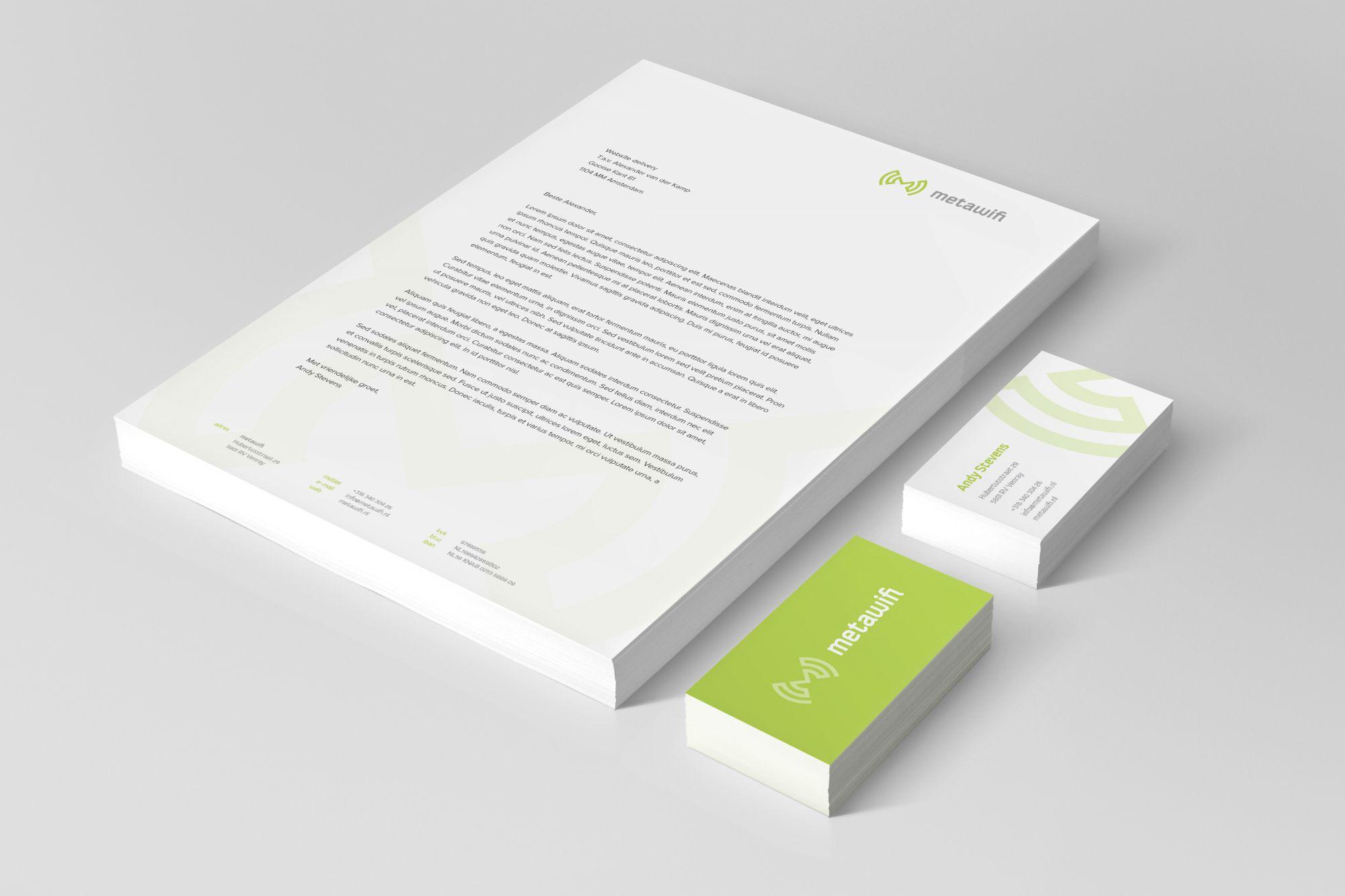 Briefpapier en visitekaartjes MetaWifi