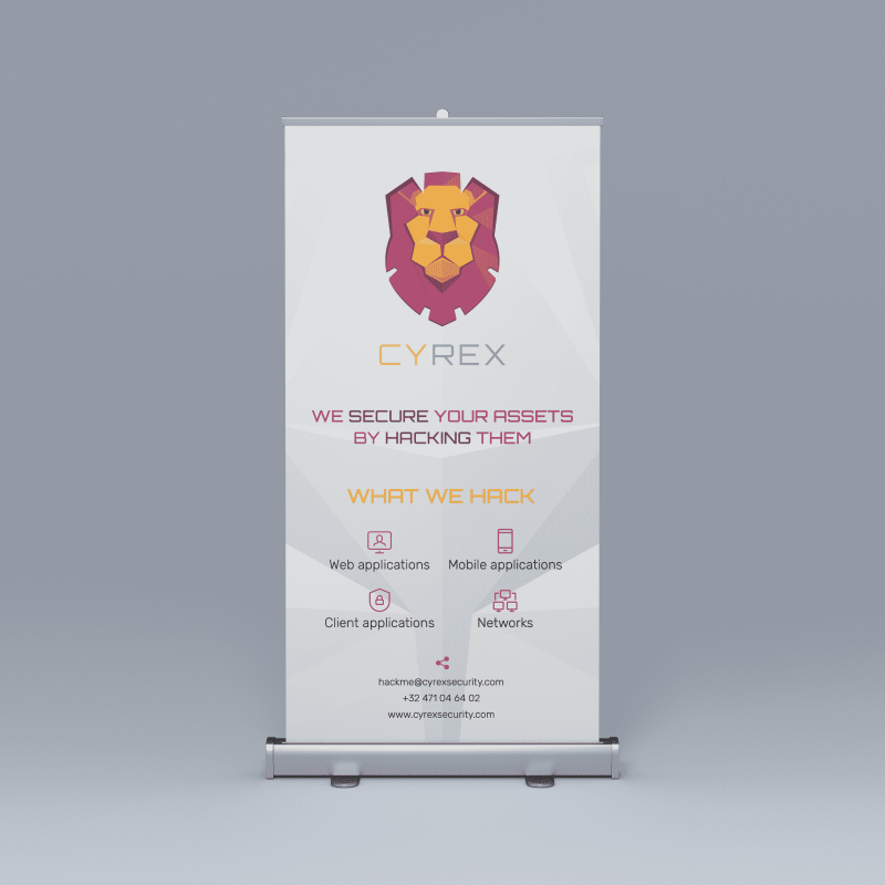 Roll-up banner Cyrex