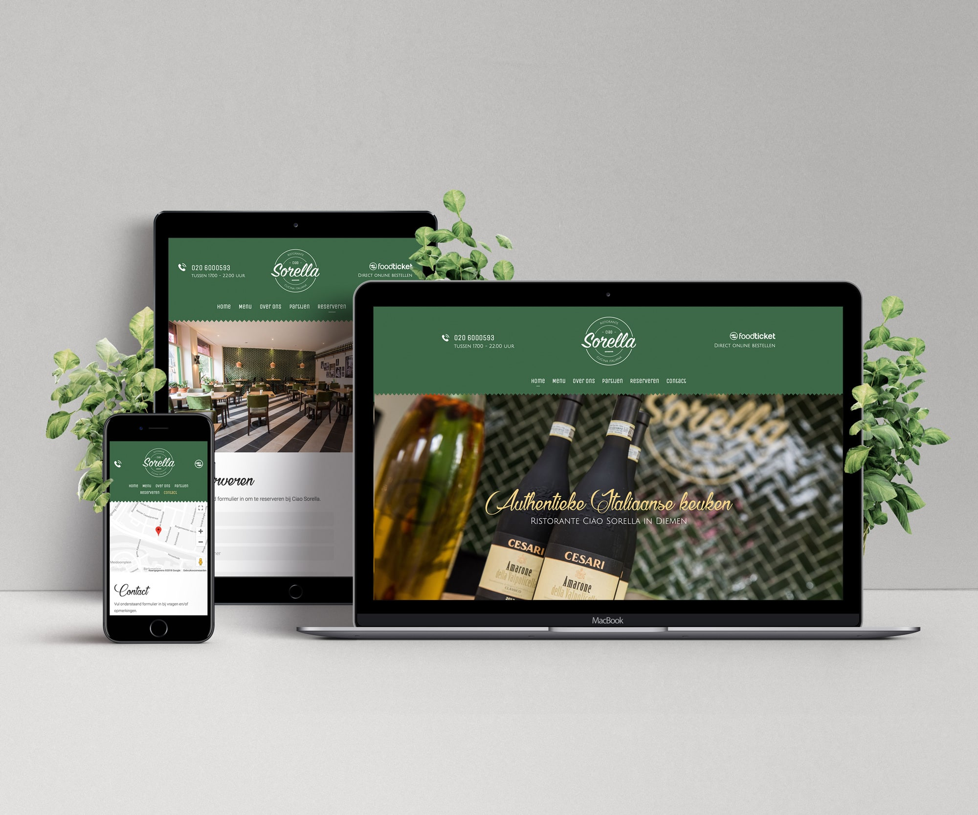 Website Ciao Sorella
