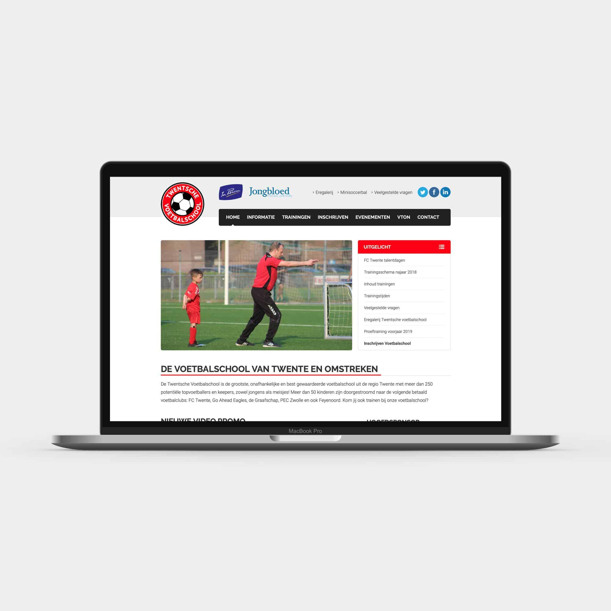 Website Twentsche Voetbalschool